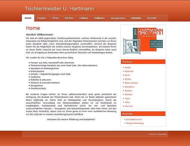 Tischlermeister U. Hartmann