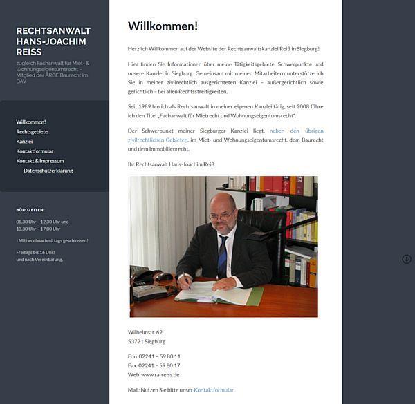 Rechtsanwalt Hans-Joachim Reiß